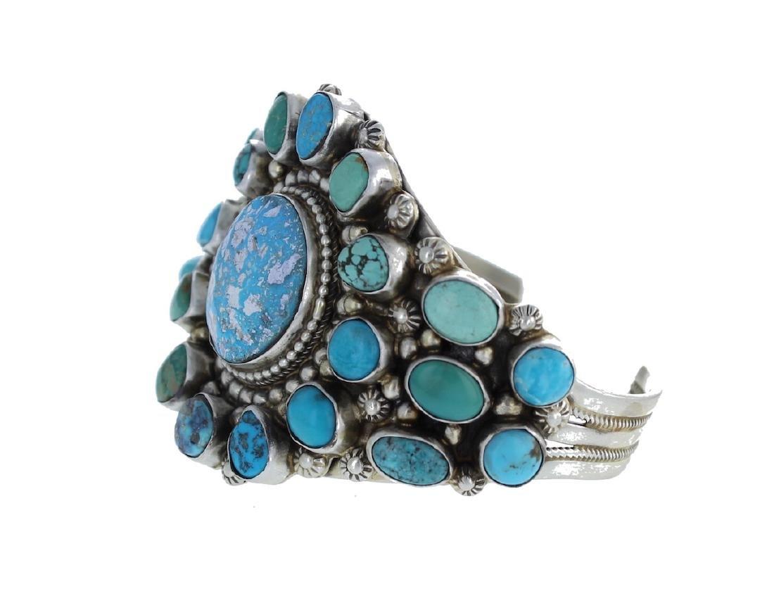 Sterling Silver Genuine Kingman Turquoise Masterpiece - 2