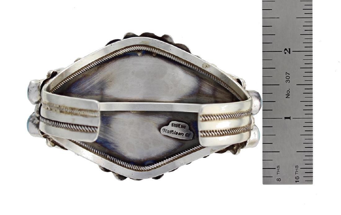 Sterling Silver Genuine Kingman Turquoise Masterpiece - 3