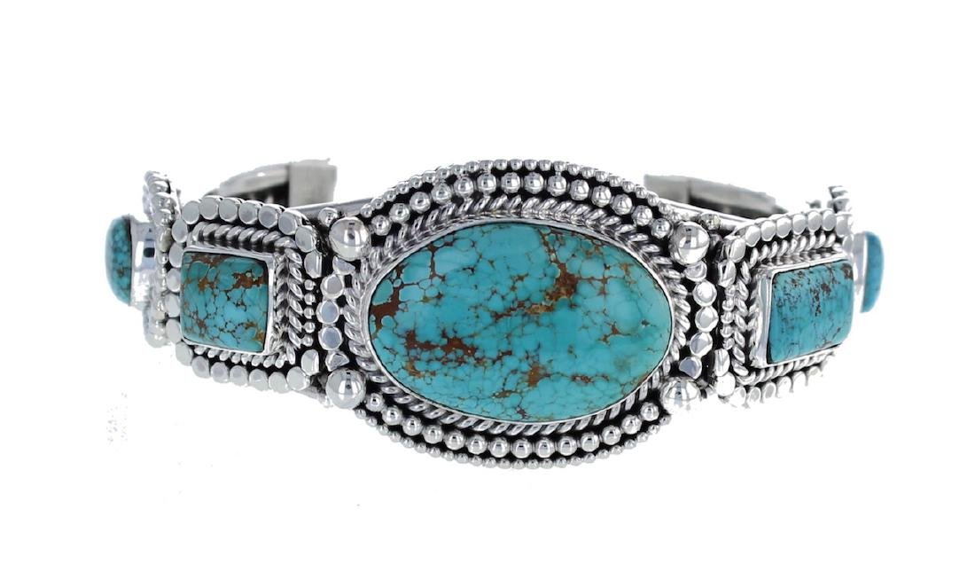 Sterling Silver Genuine Turquoise Masterpiece Heavily