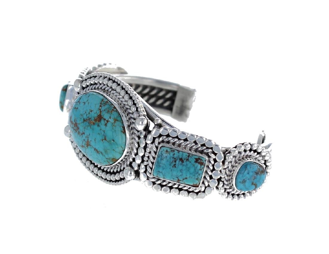 Sterling Silver Genuine Turquoise Masterpiece Heavily - 2