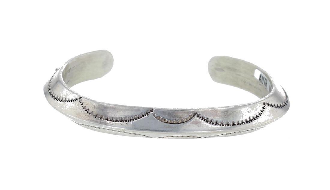 Sterling Silver Vintage Triangle Bracelet Navajo Native