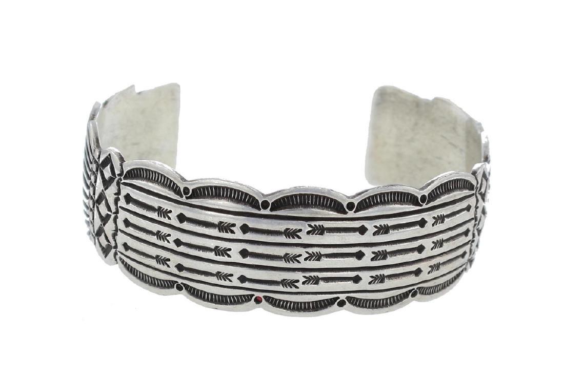 Sterling Silver Vintage Bracelet Navajo Native American