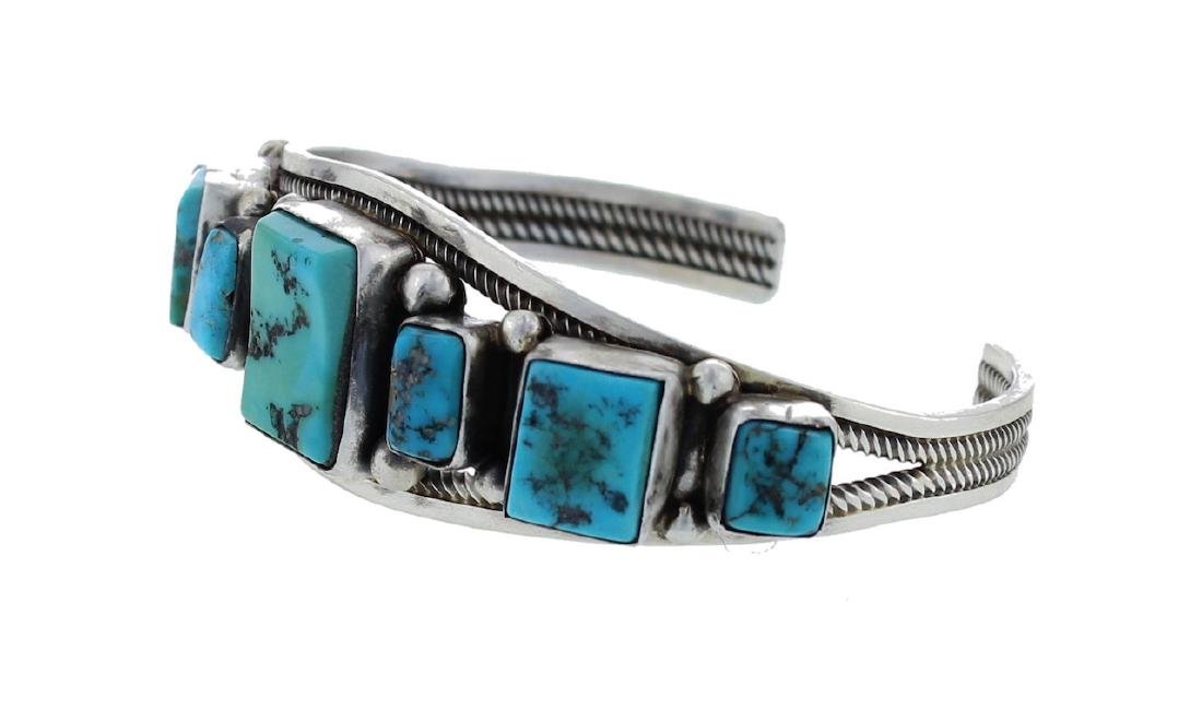 Sterling Silver Genuine Turquoise Classic 5 Stone - 2