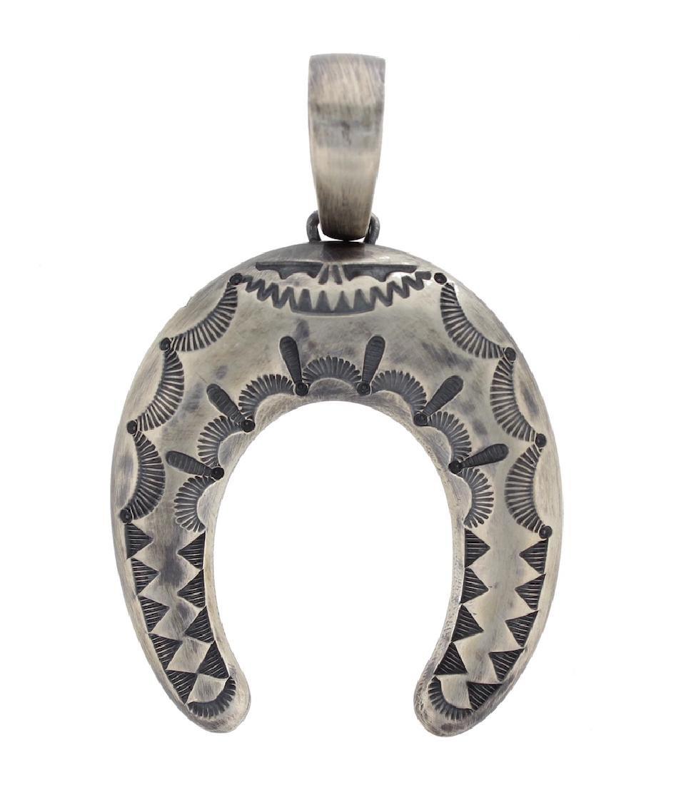 Sterling Silver Vintage Domed NaJa Pendant Navajo