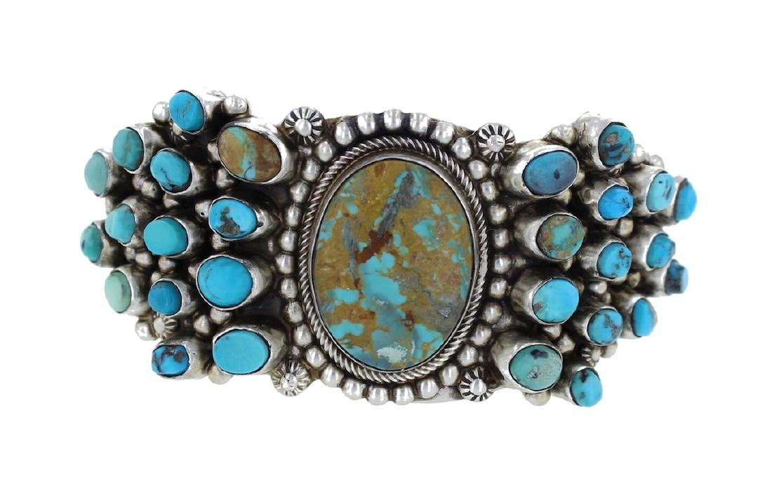 Sterling Silver Genuine Kingman Turquoise Masterpiece