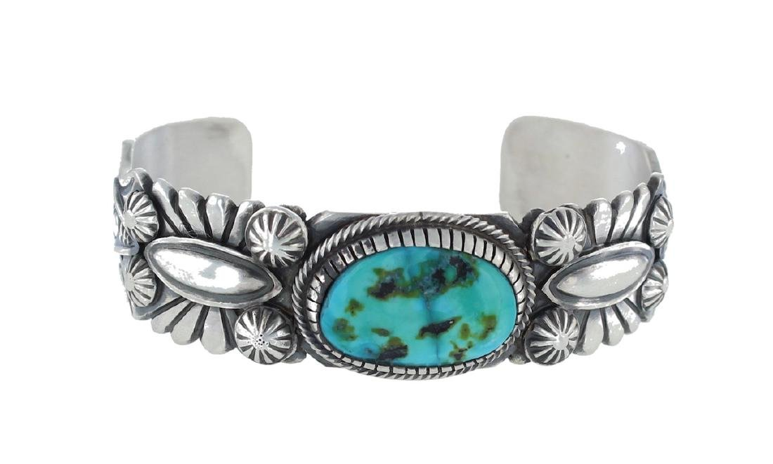 Sterling Silver Genuine Turquoise Masterpiece Bracelet