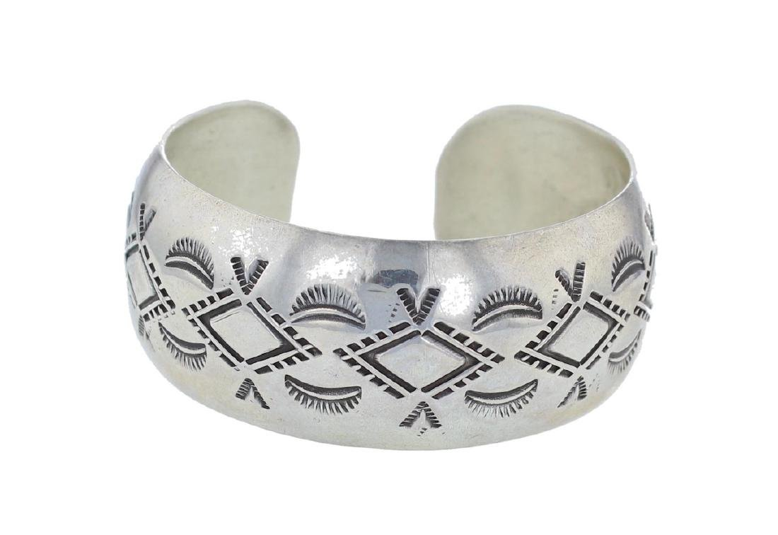 Sterling Silver Bracelet Navajo Native American Indian