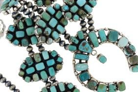 Sterling Silver Genuine Turquoise Masterpiece Huge