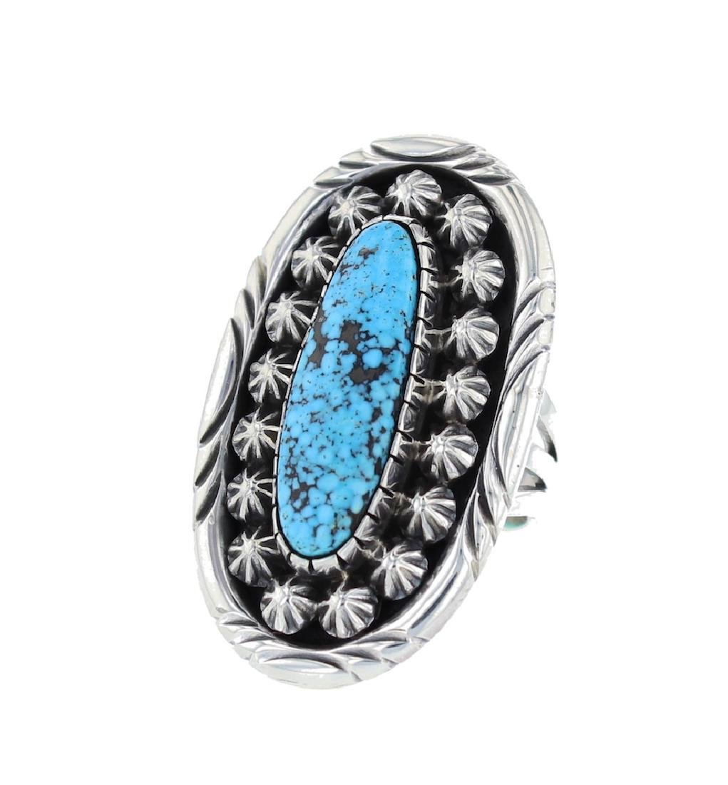Sterling Silver  Turquoise Masterpiece Ring Navajo