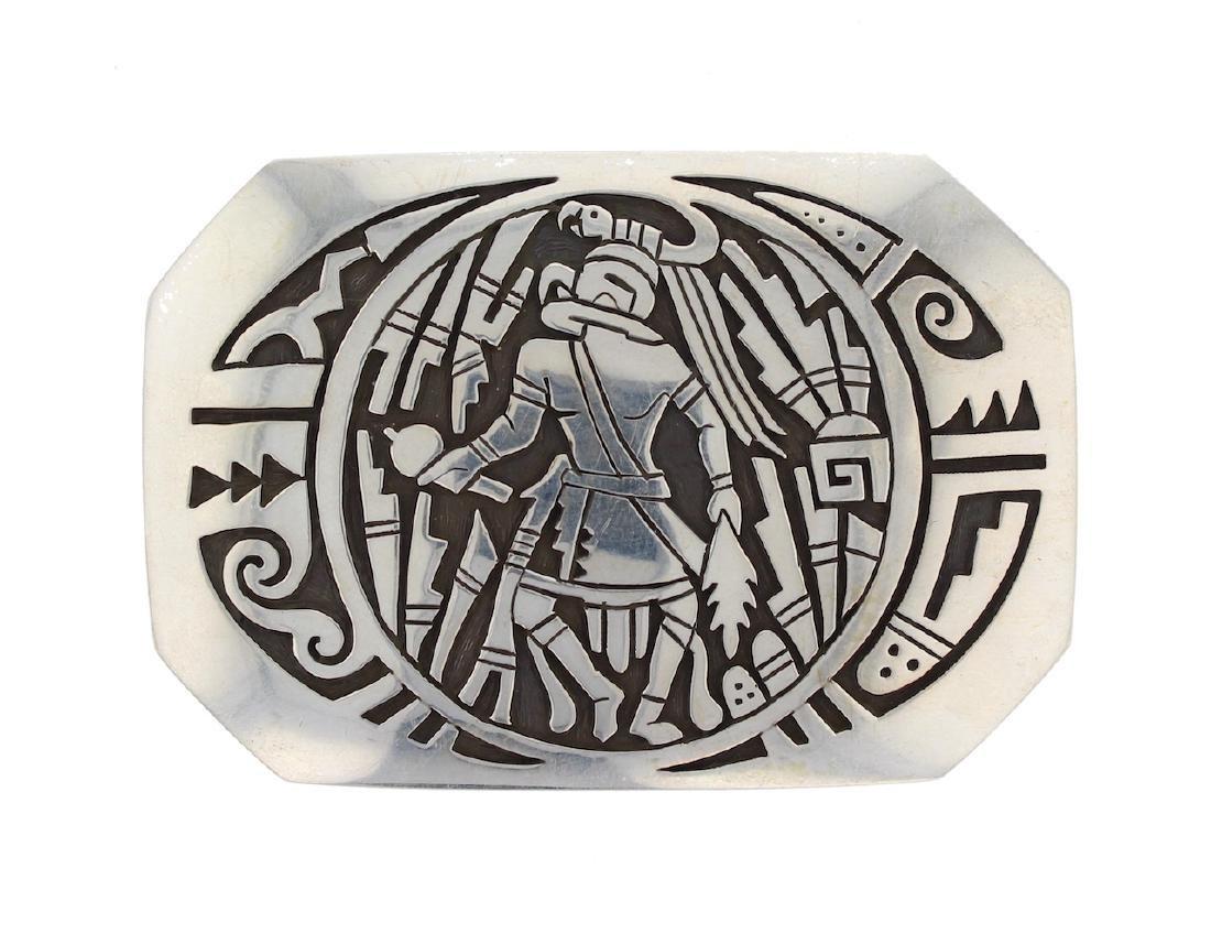 Sterling Silver Story Teller Belt Buckle Hopi Native