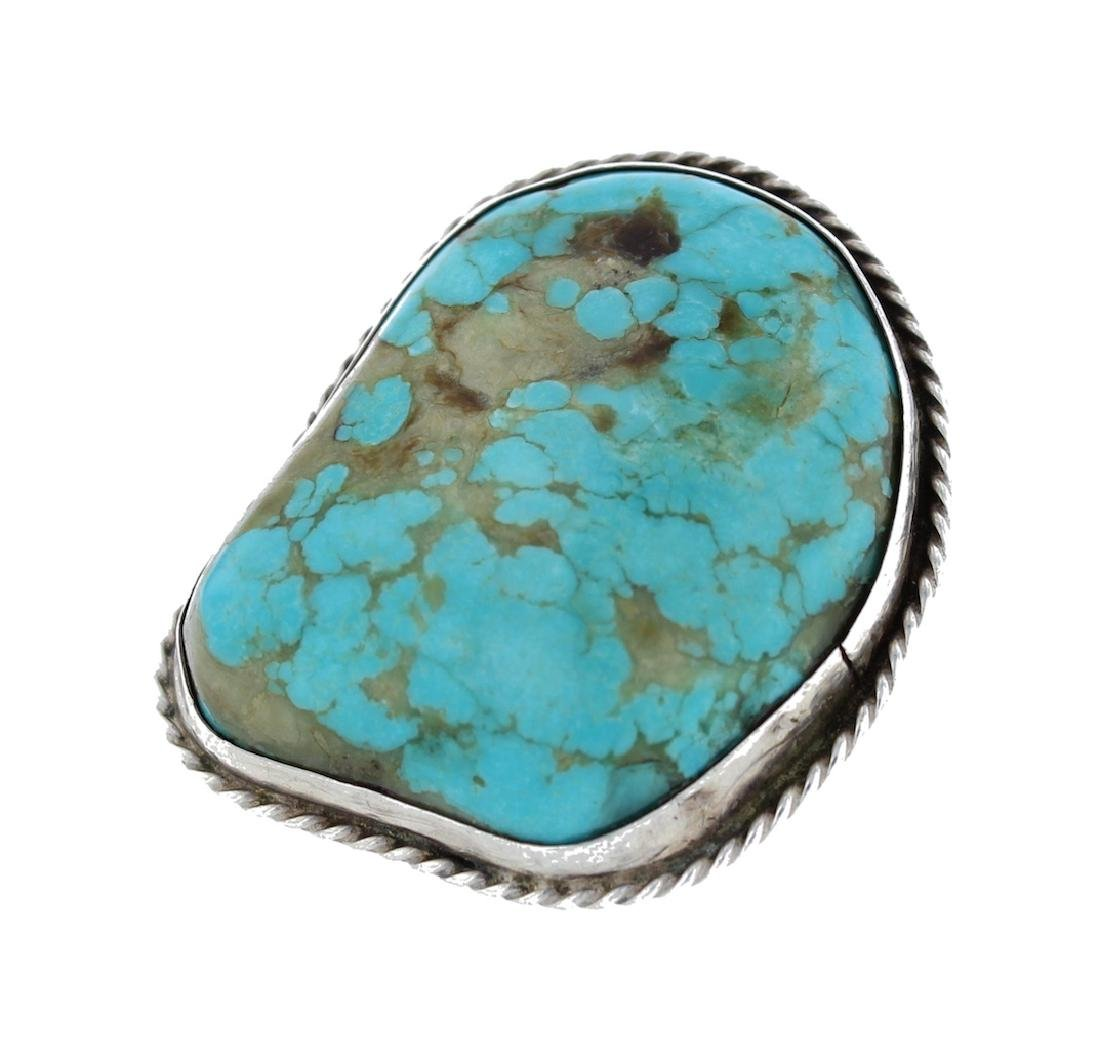 Sterling Silver  Turquoise Vintage Ring Navajo Native