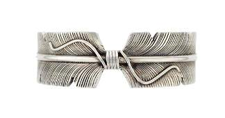 Sterling Silver Masterpiece Contemporary Feather