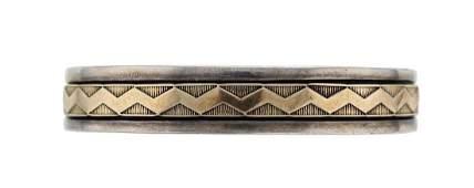 Sterling Silver  14K Gold Vintage Bracelet Navajo