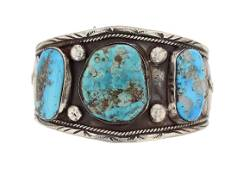 Sterling Silver Turquoise Antique Masterpiece Bracelet