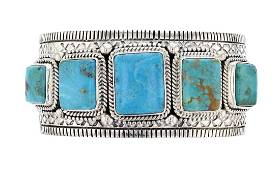Sterling Silver Turquoise Contemporary Masterpiece