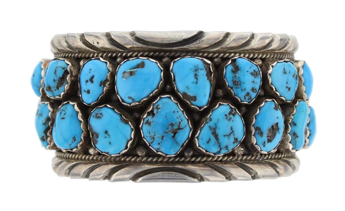 Sterling Silver  Sleeping Beauty Nugget Turquoise
