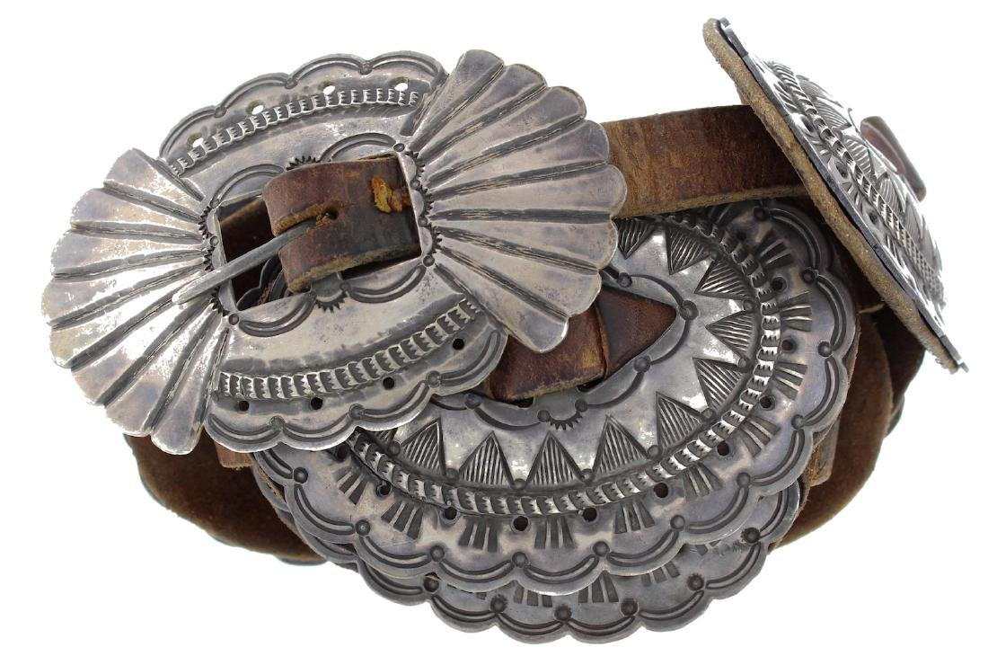 Sterling Silver Antique Heavy Stamp Masterpiece Concho