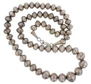 """Sterling Silver """" Navajo Pearls """" Beaded Necklace"""