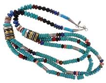 Sterling Silver & 14K Gold Genuine Turquoise