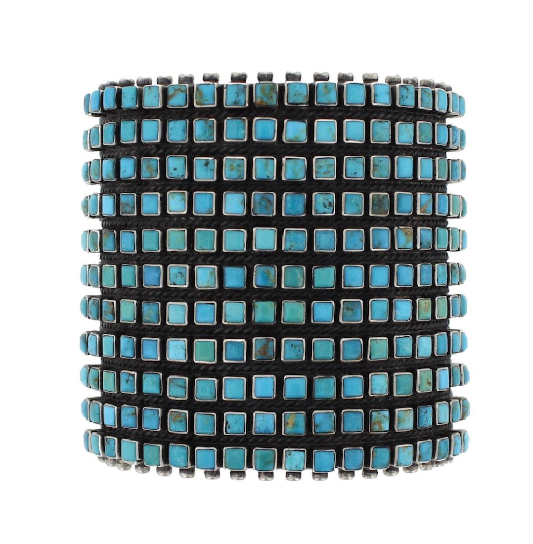 Sterling Silver Genuine Turquoise Masterpiece Vintage