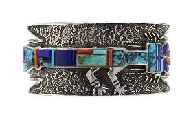 Sterling Silver Genuine Turquoise  Coral Vintage Tufa