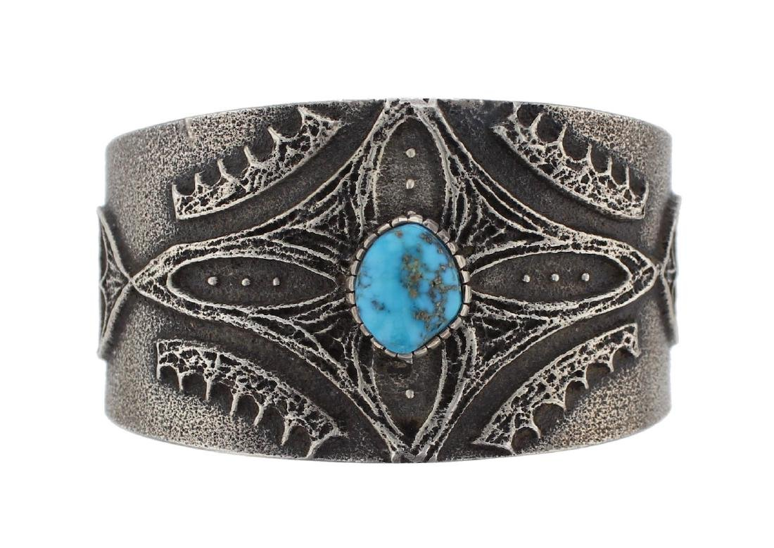 Sterling Silver Genuine Turquoise Tufa Cast Masterpiece