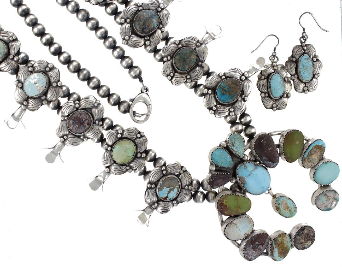 Sterling Silver Genuine Turquoise Masterpiece Squash