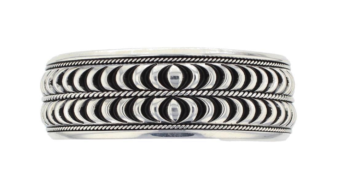 Sterling Silver Heavy Stamp Masterpiece Bracelet