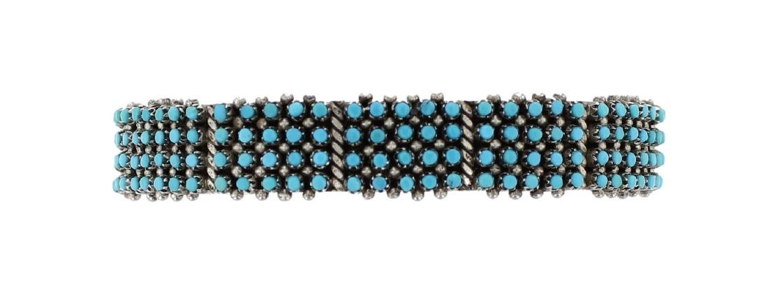 Sterling Silver Genuine Turquoise Vintage Zuni Native