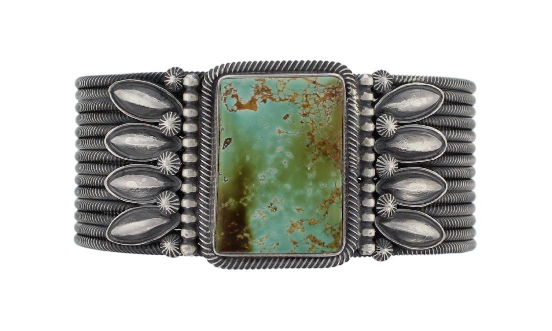 Sterling Silver Genuine Turquoise Masterpiece Row