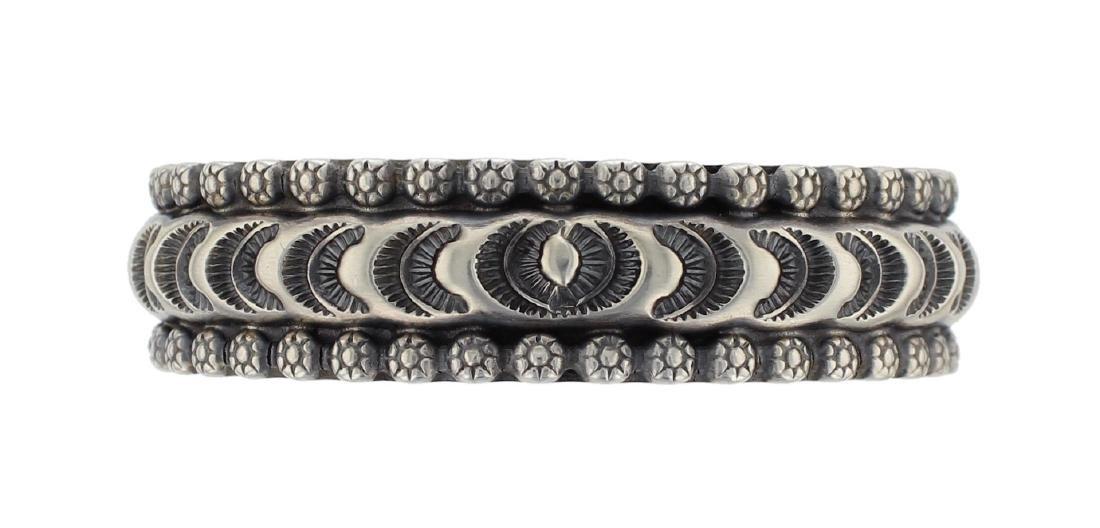 Sterling Silver Masterpiece Heavy Stamp Bracelet