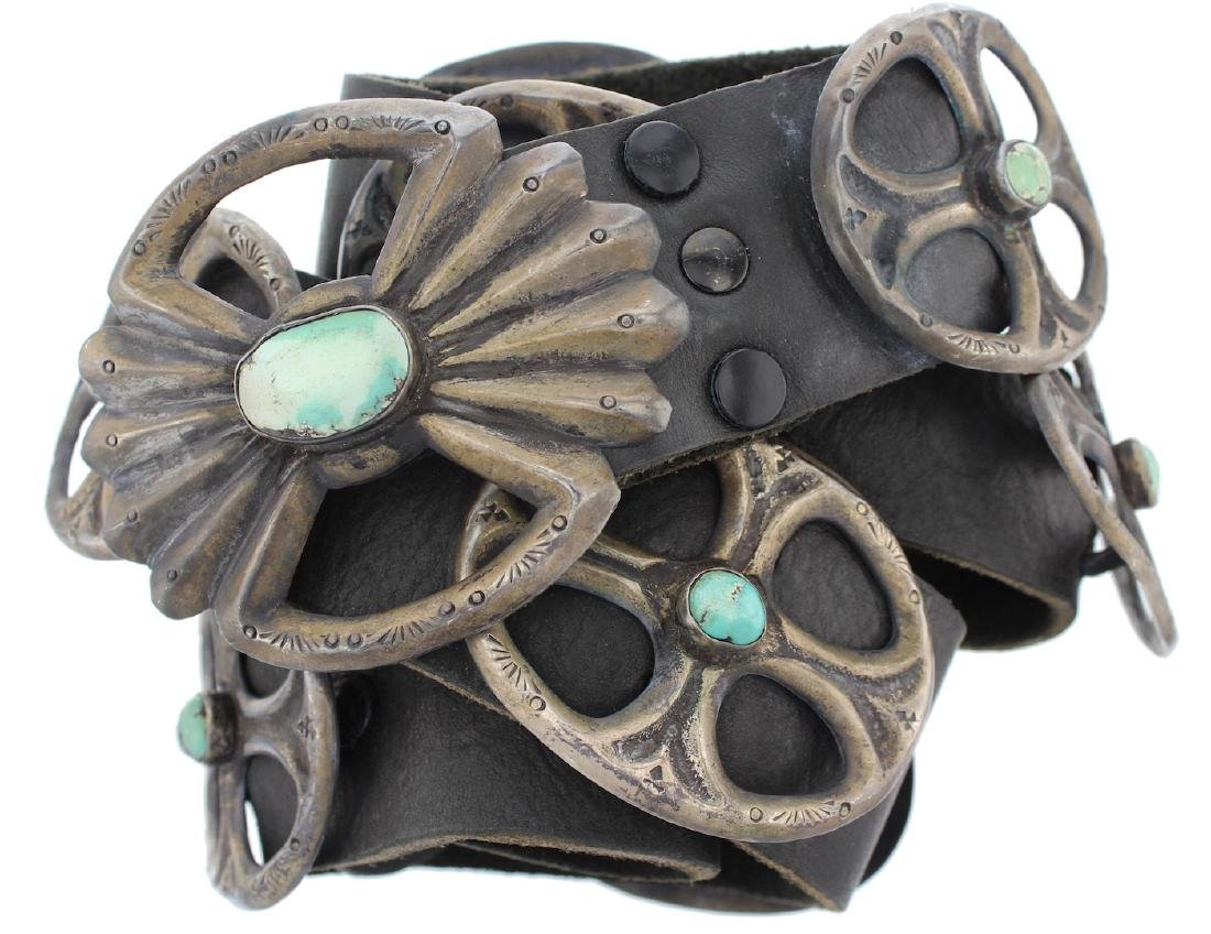 Sterling Silver Genuine Turquoise Antique Masterpiece