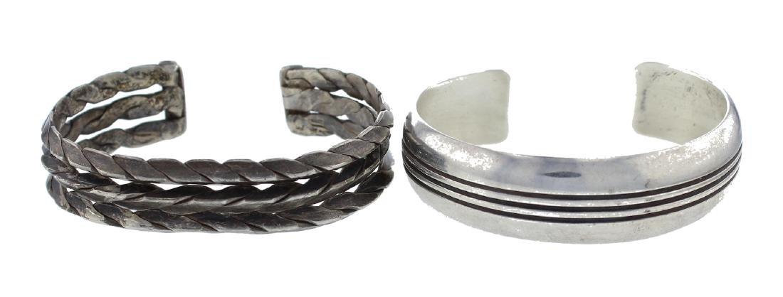 Sterling Silver Vintage Old Pawn Bracelet Lot of 2