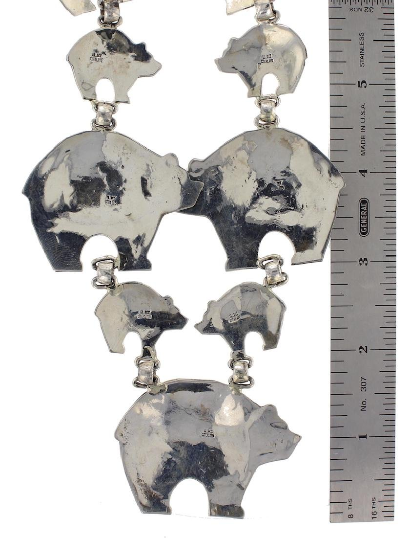 Sterling Silver Vintage Masterpiece Story Teller Bear - 2