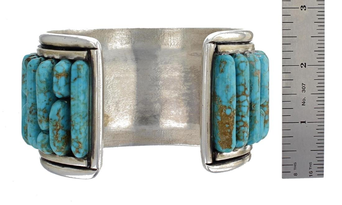 Sterling Silver Genuine Turquoise Vintage Old Pawn - 2