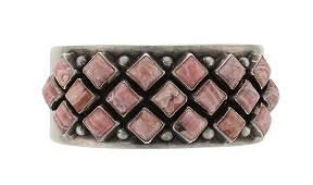 Sterling Silver Genuine Jasper Bracelet Navajo Native