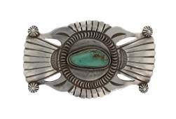 Sterling Silver Genuine Turquoise Vintage Pin Navajo