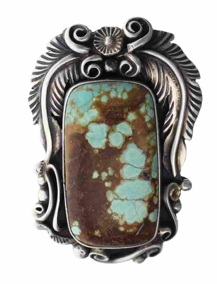 Sterling Silver Genuine Turquoise Masterpiece Ring
