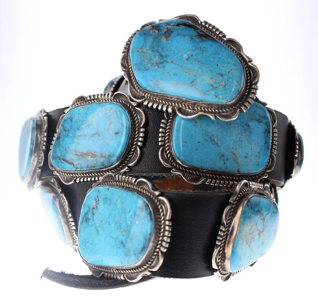 Sterling Silver Genuine Turquoise Large Stone