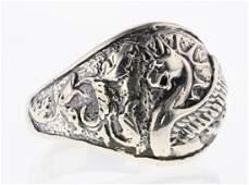 David Yurman Sterling Silver Vintage Dragon Ring