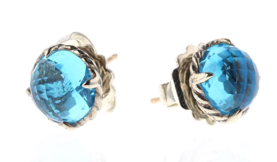 David Yurman Sterling Silver Chatelaine Earrings
