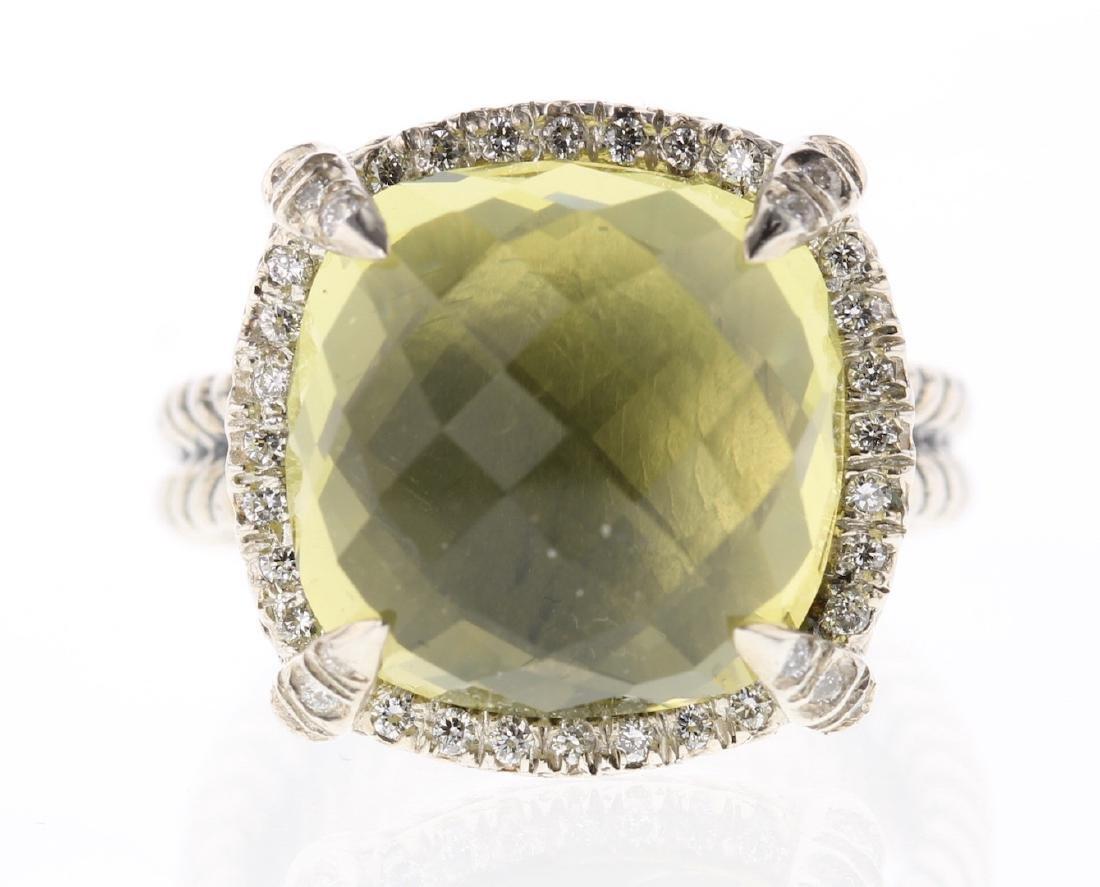 David Yurman Sterling Silver Chatelaine Diamond & Lemon
