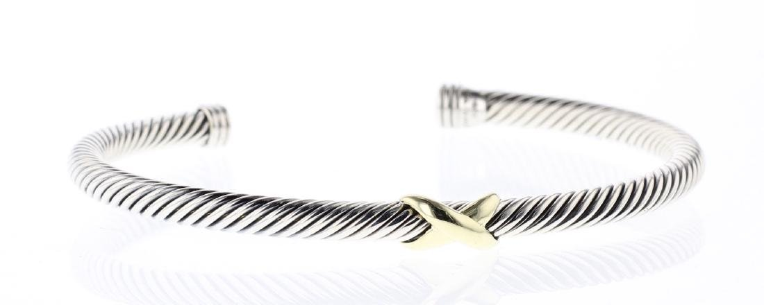 David Yurman Sterling Silver & 18K Gold Classic Cable