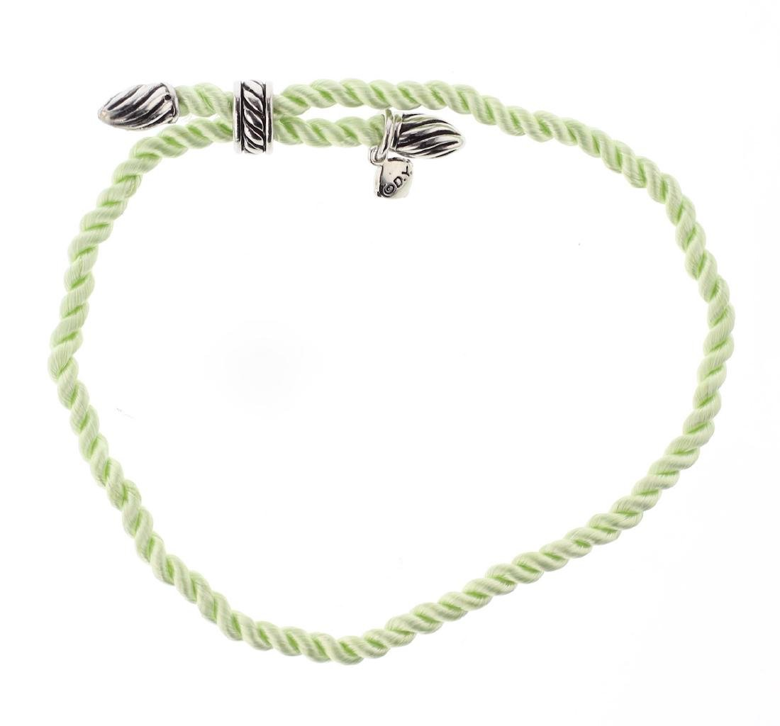 David Yurman Sterling Silver Silk Cord Bracelet