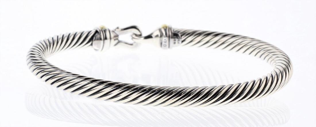 David Yurman Sterling Silver & 18K Gold Cable Buckle