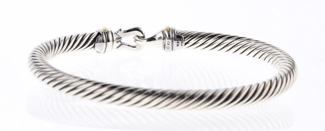 David Yurman Sterling Silver & 18K Gold Cable Buckle - 2