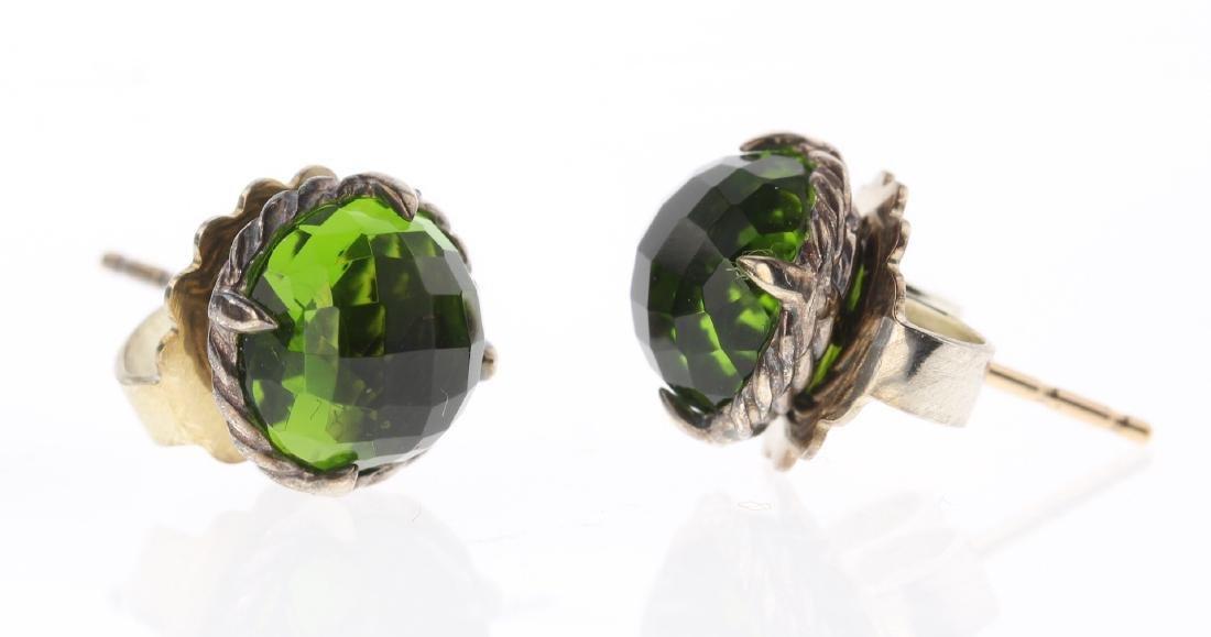 David Yurman Sterling Silver Vintage Green Peridot