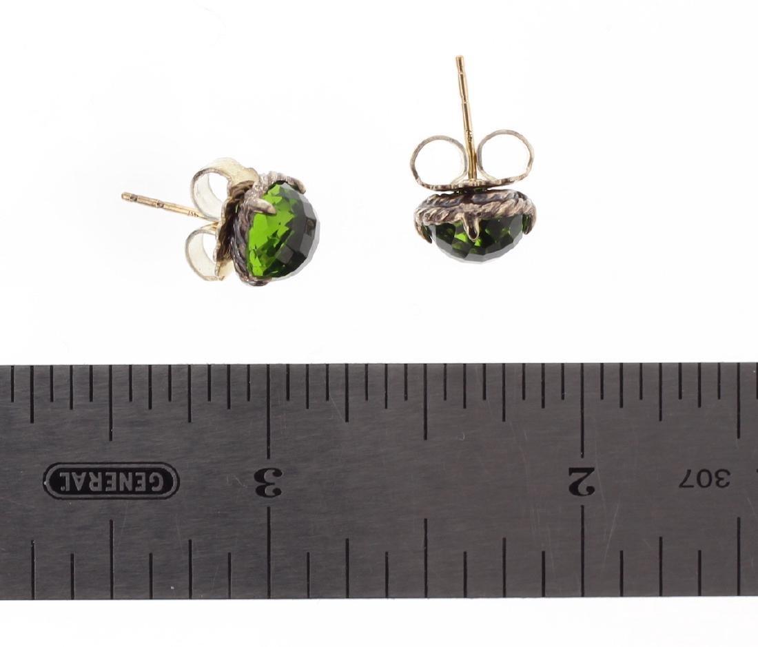 David Yurman Sterling Silver Vintage Green Peridot - 2