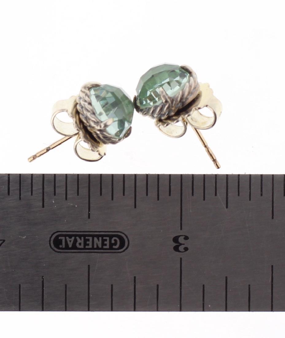 David Yurman Sterling Silver Vintage Peridot Earrings - 2