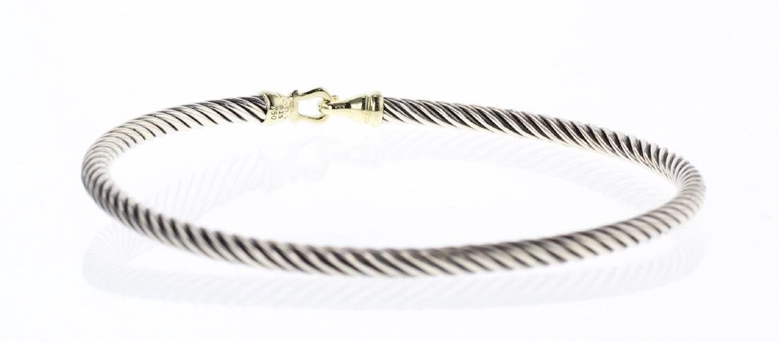 David Yurman Sterling Silver & 18K Gold Classic Cable - 2